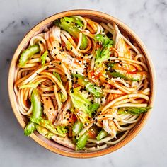 Udon with Chicken and Garlicky Peanut Dressing Recipe | Bon Appétit
