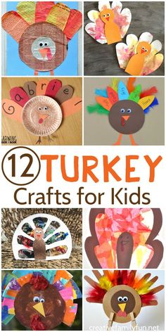 Have fun crafting with your kids while you make one of these 12 fun turkey crafts for Thanksgiving.