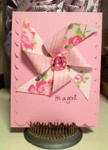Bazzill paper and scalloped card is pre-cut. So cute to make.
