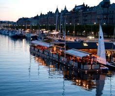 View over Strandvägen in Stockholm