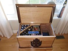 military retirement wood chest | Navy Retirement Sea Chest..want one with the Air Force symbol on it!