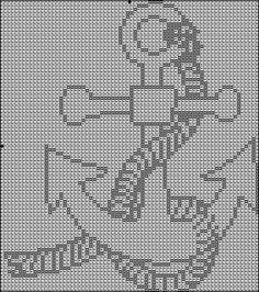 Free Anchor Crochet Pattern | Love to Crochet - Filet Crochet 1