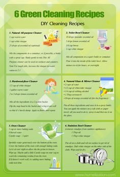 Green Cleaning Recipes DIY Cleaning Recipes Homemade Cleaning Recipes natural cleaning products Hardwood Floor Cleaner Natural All-purpose Cleaner Toilet Bowl Cleaner Natural Glass & Mirror Cleaner Oven Cleaner Stainless Steel Cleaner Green Cleaning Recipes, Natural Cleaning Recipes, Diy Home Cleaning, Household Cleaning Tips, House Cleaning Tips, Cleaning Hacks, Household Cleaners, Bathroom Cleaning, Cleaning Services