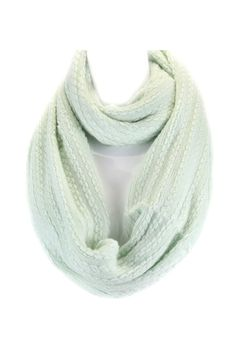 Libby Infinity Scarf in Warm Pale Mint.
