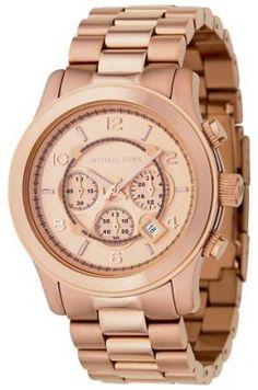 Relógio Michael Kors Runway Chronograph Rose Gold-tone Unisex Watch MK8096 #Relógio #Michael Kors