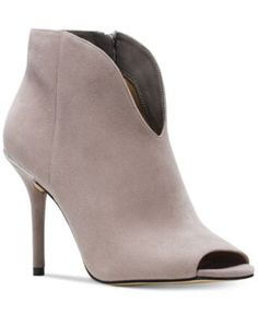 7d4bc18c9a5d MICHAEL Michael Kors Arianna Open-Toe Booties - Boots - Shoes - Macy s Grey  Booties