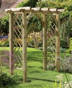 buy a garden trellis. decorate it for the wedding ceremony. keep for your own garden afterwards <3