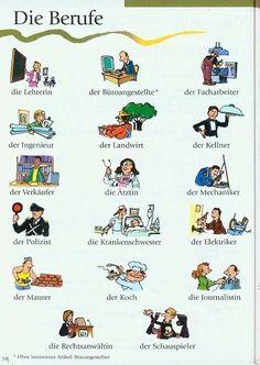 Die Berufe auf Deutsch - Las profesiones en alemán.