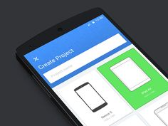 Material design - create project #mobile #UI #materialdesign