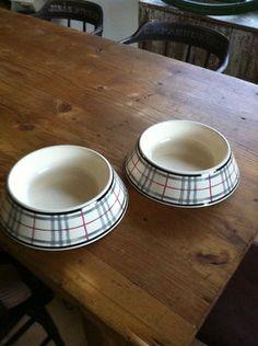 Burberry dog bowls