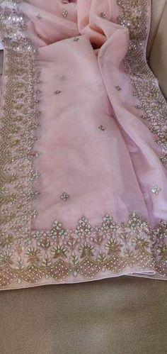 Gota Patti Saree, Fancy Dress Design, Organza Saree, Saree Wedding, Pink White, Designer Dresses, Summer Dresses, Lehenga, Sarees