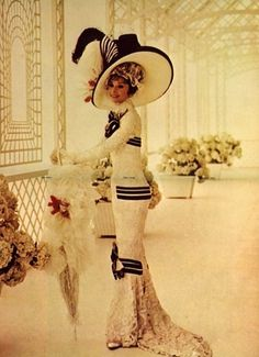 "Audrey Hepburn ~ (1929 – 1993) in a costume shoot for 'Eliza Doolittle' in ""My Fair Lady"" (1964)"
