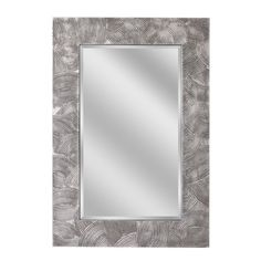 Swirl Raking Pewter Wall Mirror (1061)