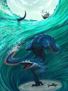 deviantart farkwhad monster sea by on Sea Monster by Farkwhad on DeviantArtYou can find Sea monsters and more on our website Mythical Creatures Art, Mythological Creatures, Magical Creatures, Monster Concept Art, Monster Art, Creature Concept Art, Creature Design, Fantasy Kunst, Fantasy Art