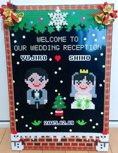 Welcome board wedding perler beads by Mashiro