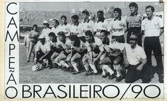Sport Club Corinthians Paulista - Brazilian Champion 1990 - Players: (Standing Left to Right) Giba, Jacenir, Marcelo Djian, Guinei and Ronaldo; (Squatting Left to Right) Fabinho, Wilson Mano, Tupãzinho, Neto and Mauro. Coach: Nelsinho Baptista.