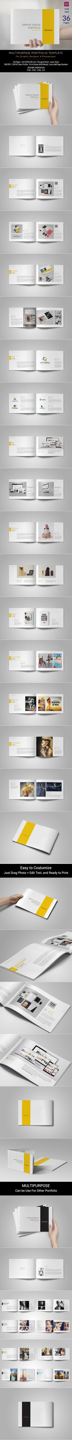This is 36 page minimal brochure template is for designers working on product/graphic design portfolios interior design catalogues, product catalogues, Portfolio Photography and agency based projects. Just drop in your own images and texts, and it's Ready… More