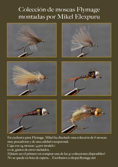 josehweigand pesca a mosca, viajes, fotografia: Colección de moscas Flymage por Mikel Elexpuru
