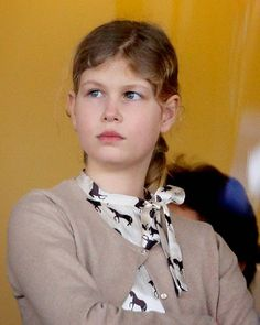 Lady Louise Windsor watches the racing as she attends the Christmas Meeting at Ascot Racecourse 2014 in Ascot, England