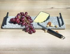 Urban Serving Tray with Cheese Knife Cheese Knife, Centerpieces, Tray, Dining Table, Candles, Food, Dinner Table, Essen, Center Pieces