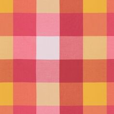 Lee Jofa | Happy Plaid Coral/Yellow