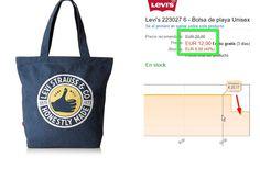 Bolso de playa Levis por solo 12 - http://ift.tt/1UiQoJx