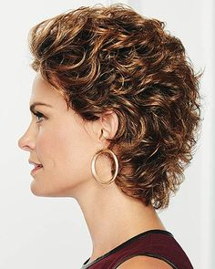 Au Naturel by Eva Gabor Wigs - Lace Front Wig Short Shag Hairstyles, Short Curly Haircuts, Curly Hair Cuts, Easy Hairstyles, Curly Hair Styles, Pixie Haircuts, Thin Hair, Short Hair With Layers, Short Hair Cuts For Women