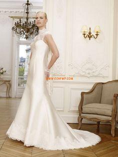 Stehkragen Elegant & Luxuriös Natürlich Brautkleider 2014