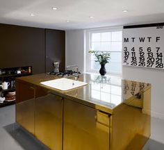 Dominic McKenzie Architect - THE brass clad kitchen island, it looks amazing from every angle.