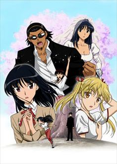 School Rumble San Gakki | Tsukamoto Tenma is an ordinary 2nd year high school student who has fallen in love with one of her classmates, Karasuma Ooji. However, currently she is unable to confess her feelings to him. To make things worse, she found out that Karasuma is transferring to another school in a year. On the other hand, Tenma's other classmate, Harima Kenji (who is a delinquent) is also in love with Tenma. Not being able to confess his feelings, Harima gets depressed day by day.