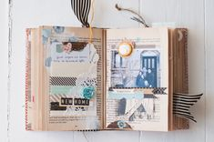 It certainly is not a traditional way of documenting/scrapbooking, but using an old book like this is such a fun way to add a lot of depth and personality to photos!