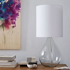 Glass Jug Table Lamp - Clear #westelm