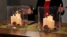 PartyLite Decorating With the Majestic Hearth Hurricane