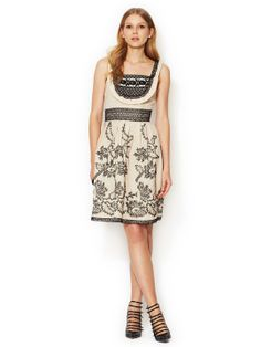 Black Eyed Susan Embroidered A-Line Dress by Anna Sui at Gilt