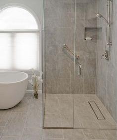 Barrierefreies Badezimmer Planen Ebenerdige Dusche Glaswaende