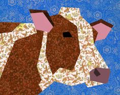Joly Bouncer the horse will be wonderfully used in country quilts and folk style sewing projects. For quilts, wall hanging, tote bags and many others, just follow your imagination ! This Horse makes a great quilt with the barn, the cow, the hen and the piglet blocks, as shown in picture 2 (a farm set is available in my shop). This PDF quilt block pattern includes clearly labeled paper piecing pattern sections, clear color chart and comprehensive instructions to sew the block in a range of…