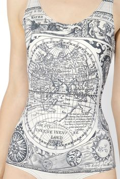 Ancient Maps Swimsuit | Black Milk Clothing