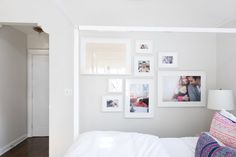 Cupcakes and Cashmere Emily Schuman LA House Tour Blue Gray Bedroom, Emily Schuman, Rose Gold Kitchen, Gallery Wall Bedroom, Inglenook Fireplace, Bedroom Pictures, Bedroom Ideas, Los Angeles Homes, House Goals