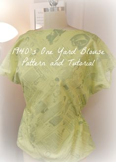 This blouse is such a quick and easy way to take an extra yard of fabric and turn it into something special!  Add some pizzaz with different fabrics, contrasting colors, and trims!!  The possibilit…