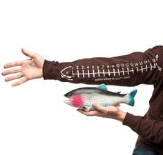 Gotta get Max one of these for measuring real and imaginary catches! Fish measuring shirt. Nature Boy Designs