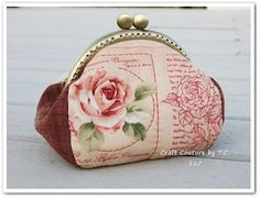 Craft Couture by T.C.: Tutorial and Pattern for Vintage Rose Frame Purse