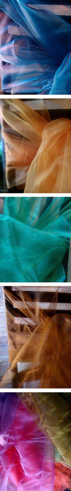 organza draping