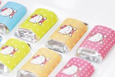 Hello Kitty mini candy bars #hellokitty #chocolate