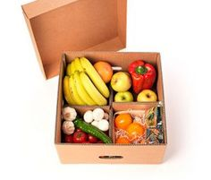 Cajas para Desayuno Sorpresa | CARTÓN S.A. - Cajas de Cartón e Ingeniería en Empaques en Barranquilla y toda Colombia Veggie Box, Vegetable Boxes, Vegetable Shop, Organic Packaging, Fruit Packaging, Food Packaging Design, Coffee Packaging, Bottle Packaging, Fruit And Veg