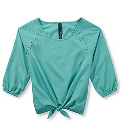 Jessica Simpson 716 Solid TieFront Woven Top #Dillards