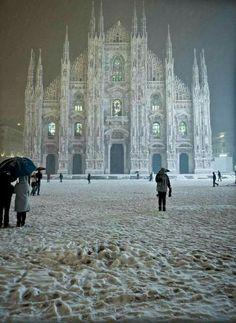 Milano imbiancata