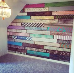 Palettenwand meiner Töchter, inspiriert von Junk Gypsy Pallet wall of my daughters, inspired by Junk Gypsy Diy Wand, Mur Diy, Palette Diy, Bedroom Decor, Wall Decor, Girl Bedroom Walls, Pallet Walls, Big Girl Rooms, Boho Decor