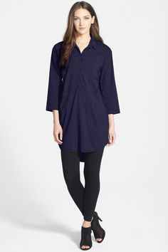 Classic Collar Shirtdress by Eileen Fisher on @nordstrom_rack