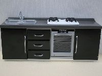 WH-K59 Moderne keuken zwart