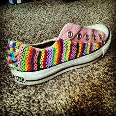beads glued  to a Converse  -- Instagram photo by @michelle gillies | Statigram